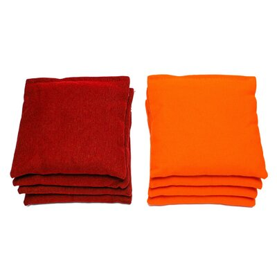 Retro Stained Pointed Cornhole Set Bag Color: Red/Orange