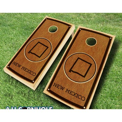 New Mexico Stained 10 Piece Cornhole Set Color: Red/Navy