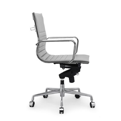 Decade Classic Aluminum High-Back Desk Chair Color: Gray, Frame Finish: Silver