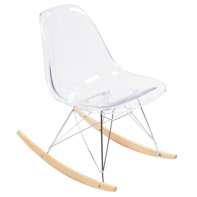 Rocking Chair Color: Clear