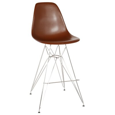 Hadsell Mid-Century 27.5'' Bar Stool Color: Gray