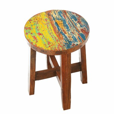 Audrey Reclaimed Wood Accent Stool