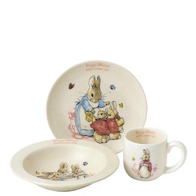 Beatrix Potter 3 Piece Flopsy Mopsy and Cotton Tail Nursery Set