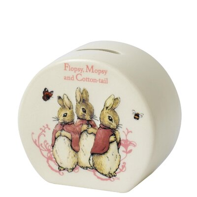 Beatrix Potter Flopsy Moapsy and Cotton Tail Money Box