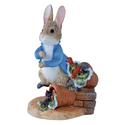 Beatrix Potter Peter Rabbit with Plant Pot Figure