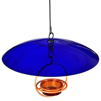 Recycled Glass Weather Baffle Dome Color: Cobalt Blue
