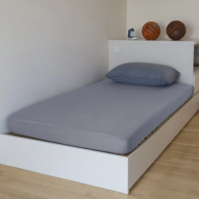 """Breathable and Waterproof Standard Fitted Sheet and Protector Size: 75"""" H x 38"""" W x 12"""" D, Color: Grey"""