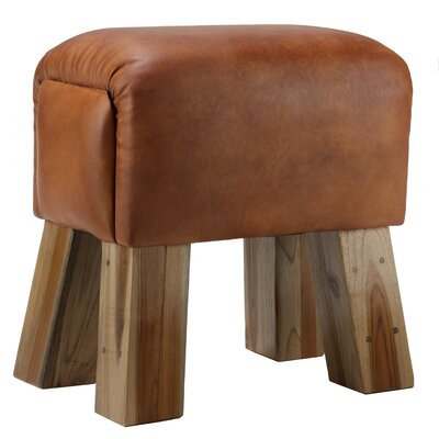 Gorgie Leather Accent Stool