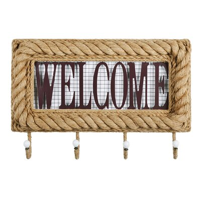 Rustic Welcome Wall Coat Rack Wall Dcor