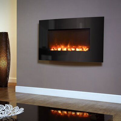 BFM Curved Glass Electric Fireplace