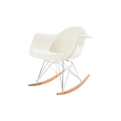 Arturo Rocking Chair Color: Beige