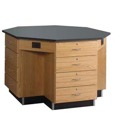 Diversified Woodcrafts Octagon Workstation