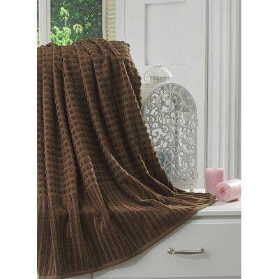 Yorkshire Piano 100% Cotton Bath Sheet Color: Brown