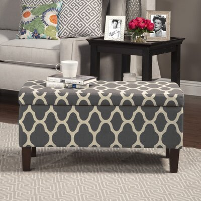 Clare Tokatli Upholstered Storage Bench Upholstery: Warm Gray