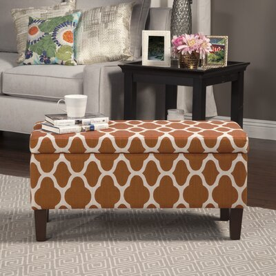 Clare Tokatli Upholstered Storage Bench Upholstery: Rust