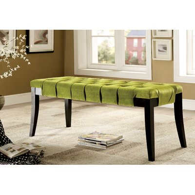 Pinedale Upholstered Bench Color: Green