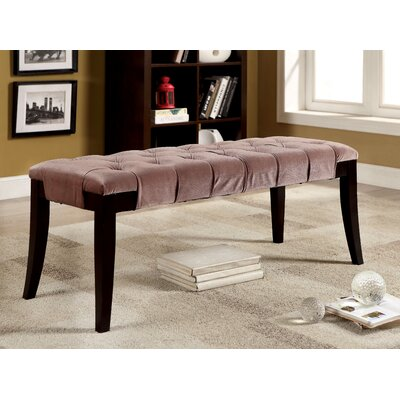 Pinedale Upholstered Bench Color: Brown