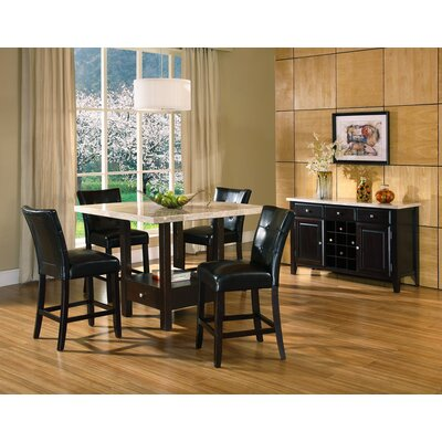 Chloe 5 Piece Counter Height Dining Set