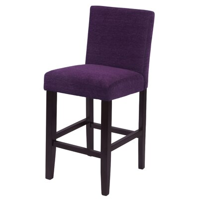 "Bottorff 26"" Bar Stool Upholstery: Eggplant"