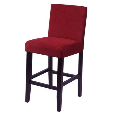 "Bottorff 26"" Bar Stool Upholstery: Dark Red"