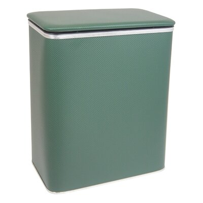 Maura Laundry Hamper Color: Green with Silver Mylar Trim