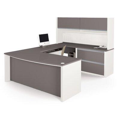Karla 1 Piece U-shaped Desk Office Suite Color: Slate/Sandstone