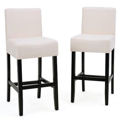 """Ingleside 26"""" Bar Stool Upholstery: Gray"""