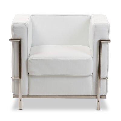 Demaree Mason Armchair Upholstery: White