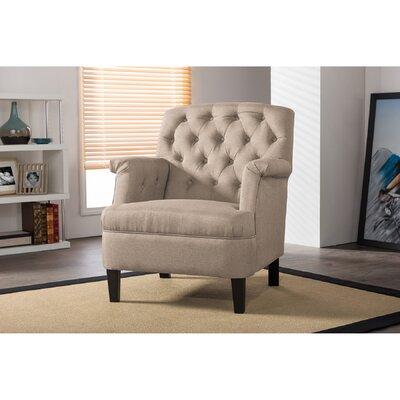 Sheryl Armchair Upholstery: Beige