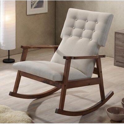 Jimmy Rocking Chair Upholstery: Light Beige