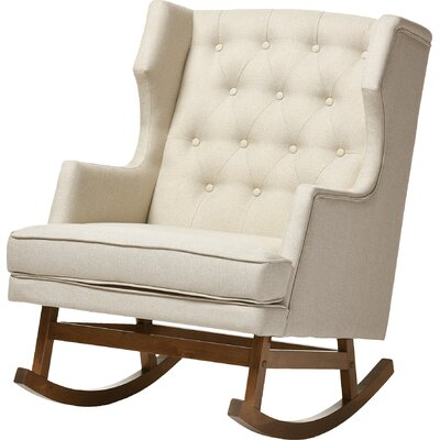 Myrna Rocking Chair Upholstery: Light Beige