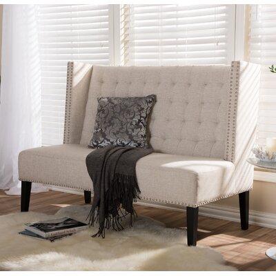Aldford Upholstered Bench Color: Light Beige