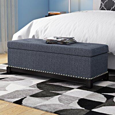 Warner Robins Upholstered Storage Bench Color: Gray