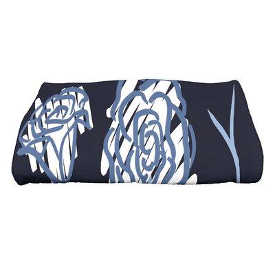 Spring Floral 2 Floral Print Bath Towel Color: Navy Blue