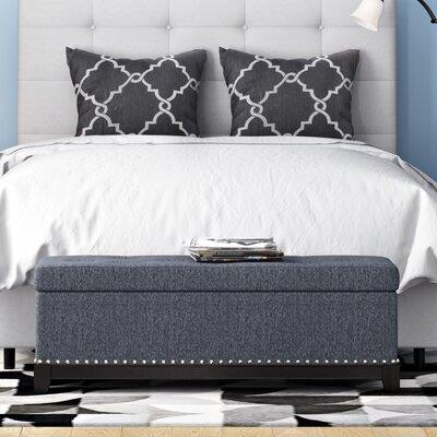 Warner Robins Upholstered Storage Bench Color: Teal
