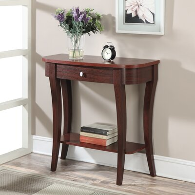 Grovetown Console Table Color: Mahogany