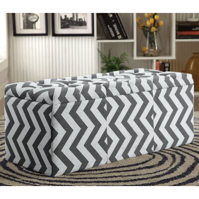 Zarah Upholstered Storage Bench Color: Gray