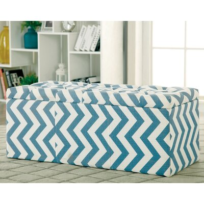 Zarah Upholstered Storage Bench Color: Blue