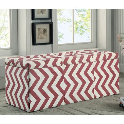 Zarah Upholstered Storage Bench Color: Red