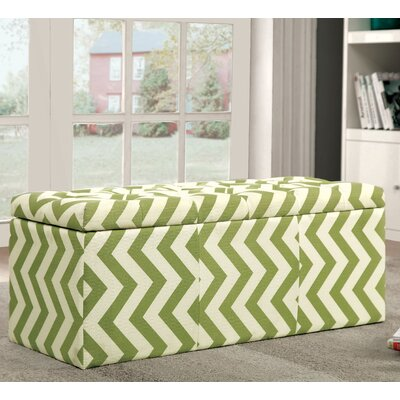 Zarah Upholstered Storage Bench Color: Green