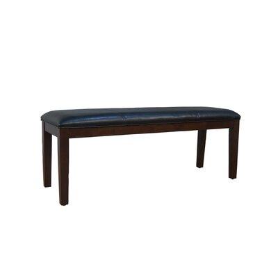 Woolery Wood Bench (Set of 2) Color: Black