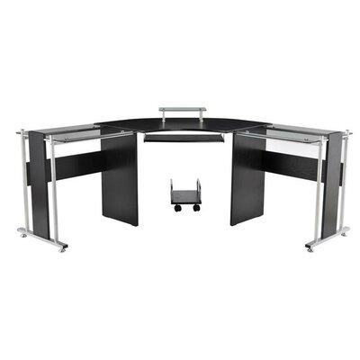 Wicker Modern L-Shaped Computer Desk