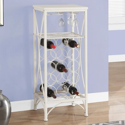 Kitson 15 Bottle Floor Wine Rack Finish: White