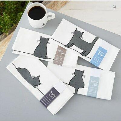 Cotton Standing Cat Tea Towel