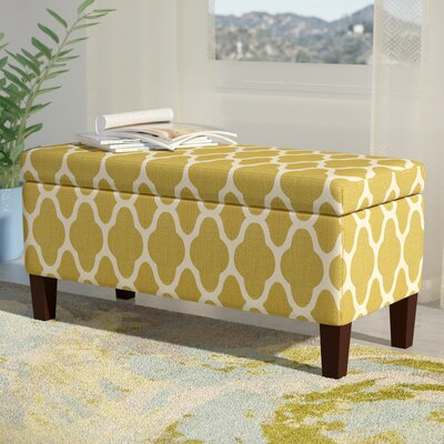 Clare Tokatli Upholstered Storage Bench Upholstery: Green Apple