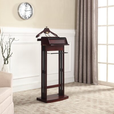Gunnels Wood Charging Valet Stand Finish: Cherry
