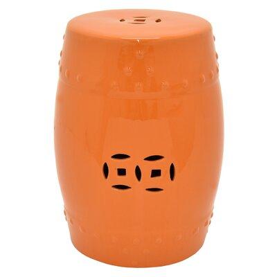 Racette Garden Stool Color: Orange