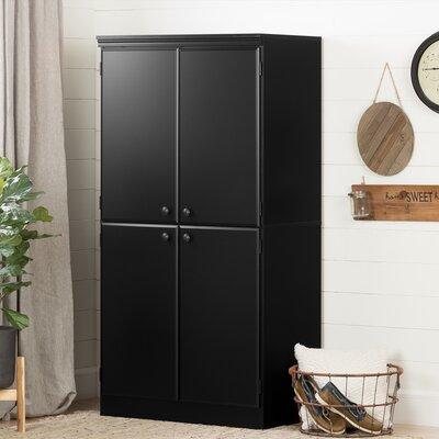 Caines 4-Door Storage Cabinet Finish: Pure Black