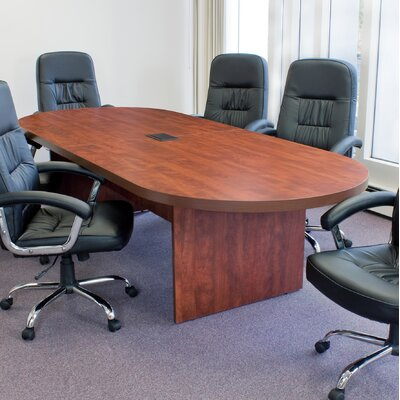 Linh Oval Wood Conference Table Finish: Cherry, Size: 16' L