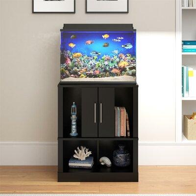 Feldt 20 Gallon Aquarium Stand Finish: Black